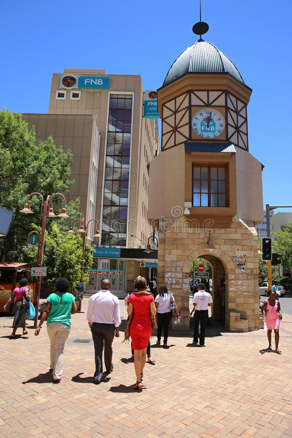 Download Windhoek Clock Tower editorial photography. Image of african - 35267757