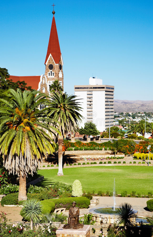 Windhoek-Kapital von Namibia lizenzfreie stockbilder
