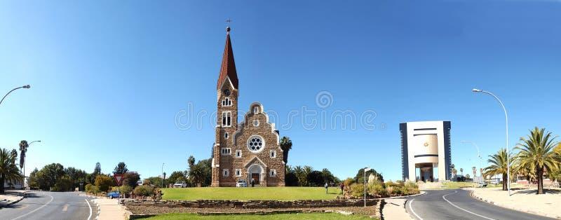 Windhoek panorama, Namibië stock afbeelding