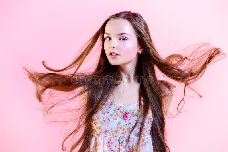 Windige Haare stockfotografie