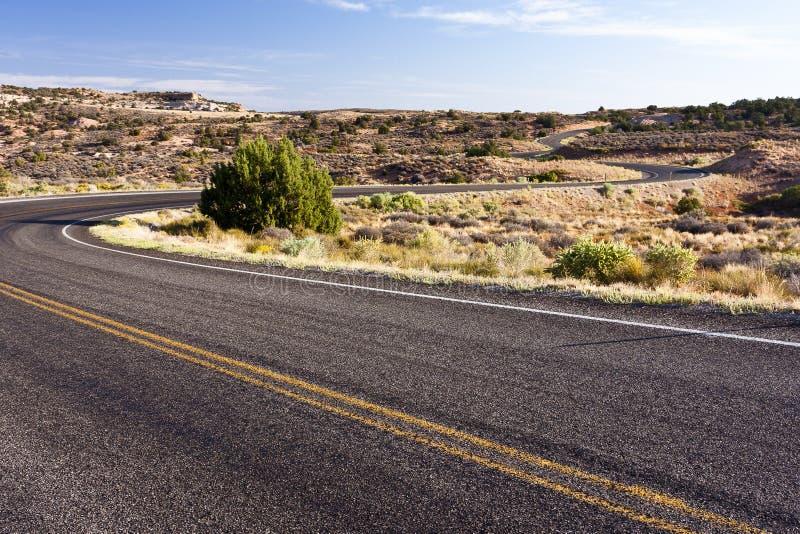 Windige Straße lizenzfreies stockbild