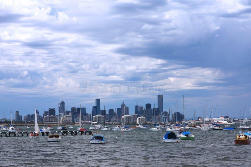 Windiges Melbourne stockfoto