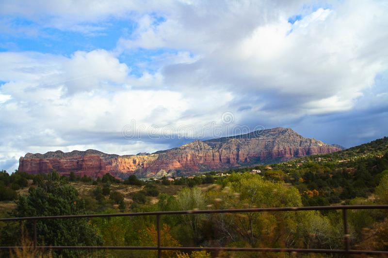 Winding Airport Road viewed from Sedona Airport Vortex stock photography