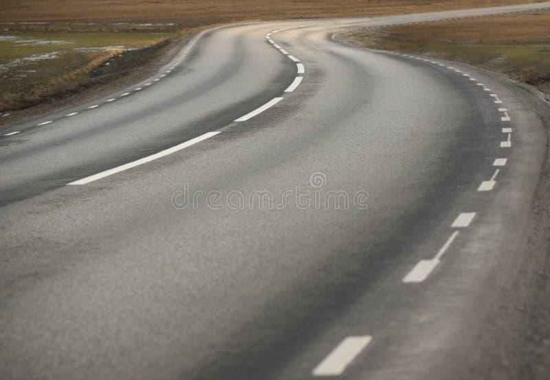 Winding asphalt road royalty free stock photos