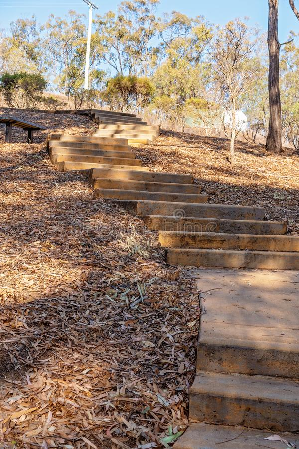 Winding Concrete Steps Up A Hill royalty free stock photography