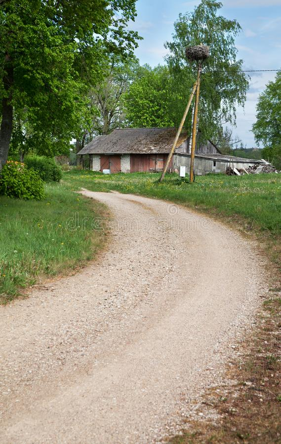 Winding country road royalty free stock photo