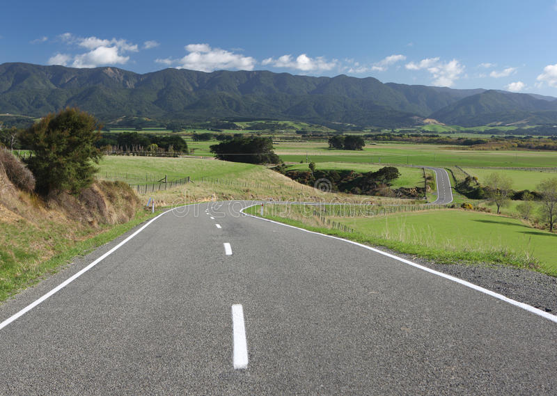Download Winding Country Road, New Zealand Stock Image - Image: 11011515