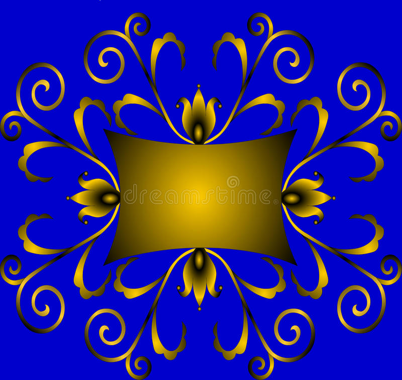 Download Winding Gold(en) Ornament With Colour Stock Illustration - Image: 11391204