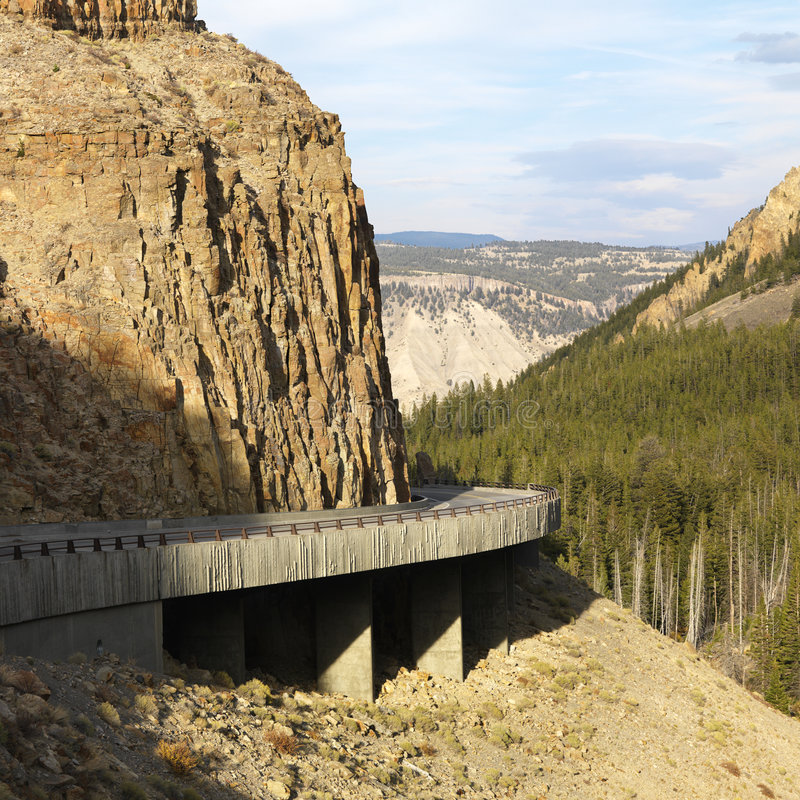 Winding highway stock photography