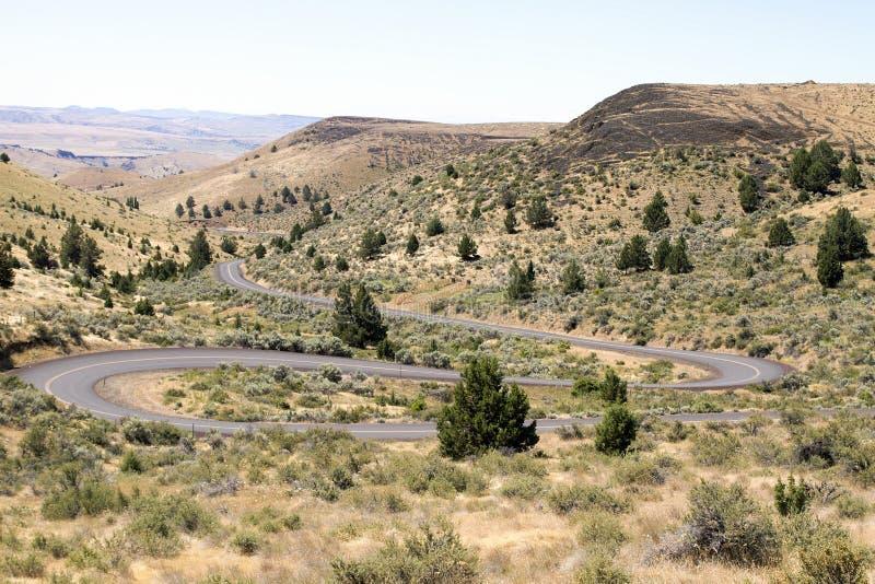 Download Winding Highway In Oregon High Desert Farmland Stock Image - Image: 25638213