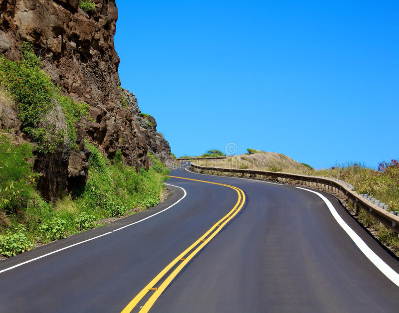 Winding highway royalty free stock images