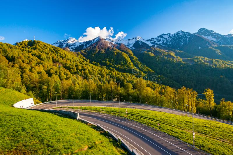 Download Summer Spring Forest Mountain Landscape, Sochi Russia. Stock Photo - Image of mountain, beautiful: 108848914