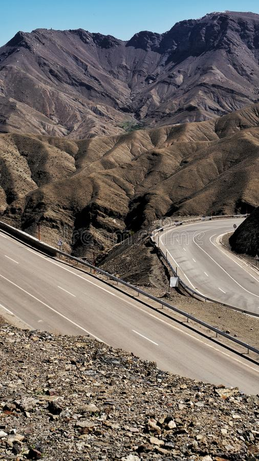 Taking the mountain road stock photography