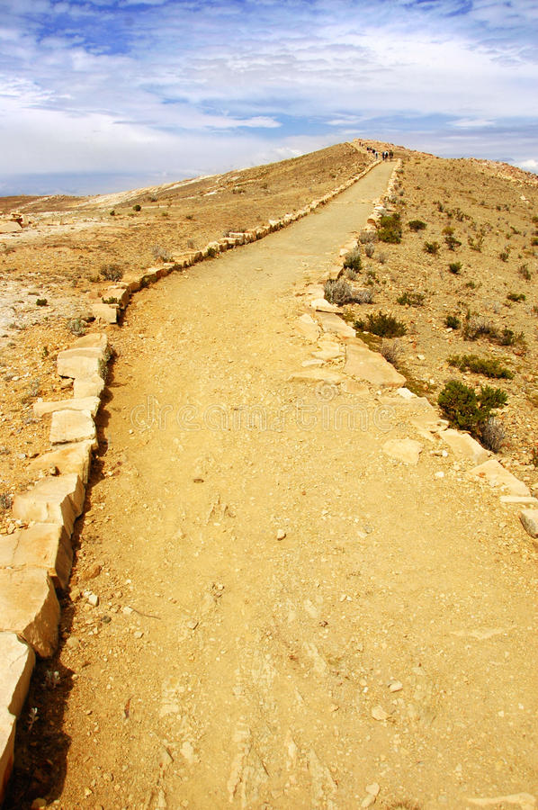 A Winding Path On Isla Del Sol Stock Photography
