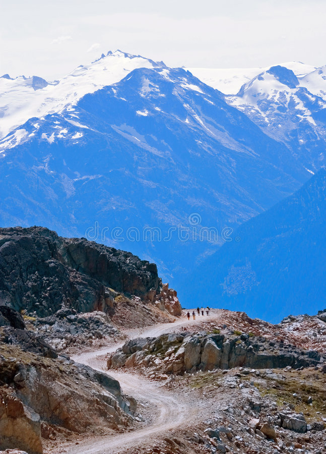 Download Winding Path Into Mountains Stock Photo - Image: 2061006