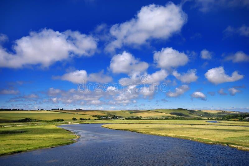Winding river stock photo