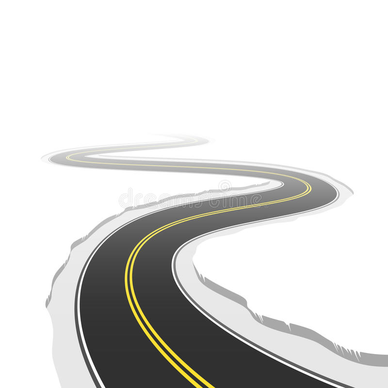 Winding road. Vector illustration of a winding road royalty free illustration