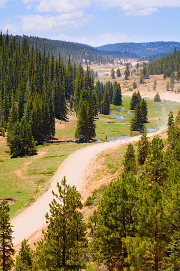 Download Winding road stock photo. Image of forest, nature, clouds - 17623012