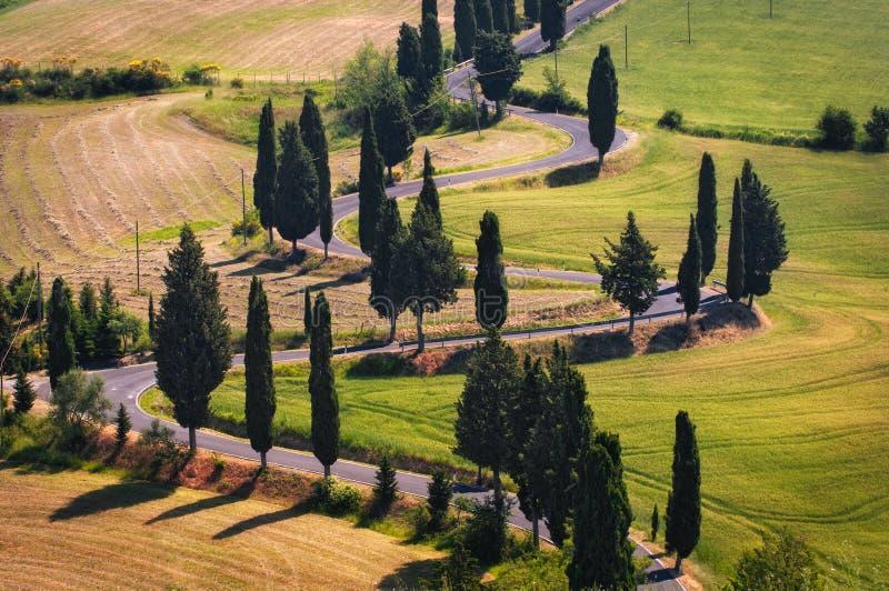 Download Winding road stock photo. Image of monticchiello, europe - 19973086