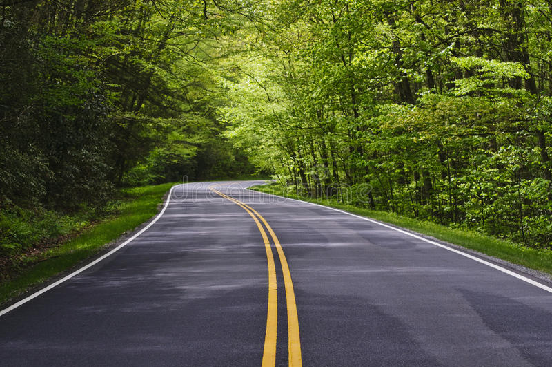 Winding road royalty free stock photos