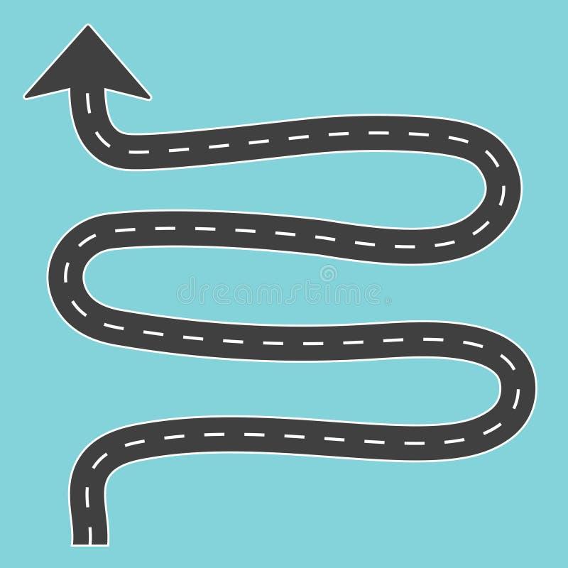 Winding road with arrow. Vector illustration vector illustration