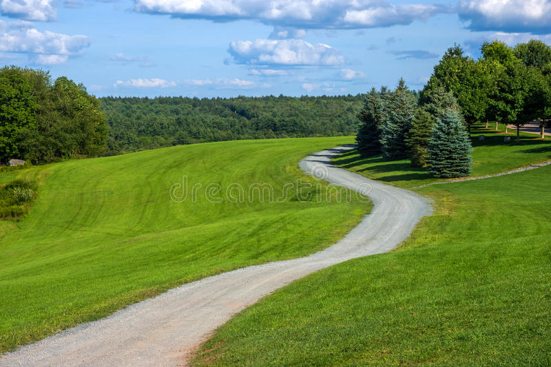 Winding Road Bethal Woods royalty free stock photography