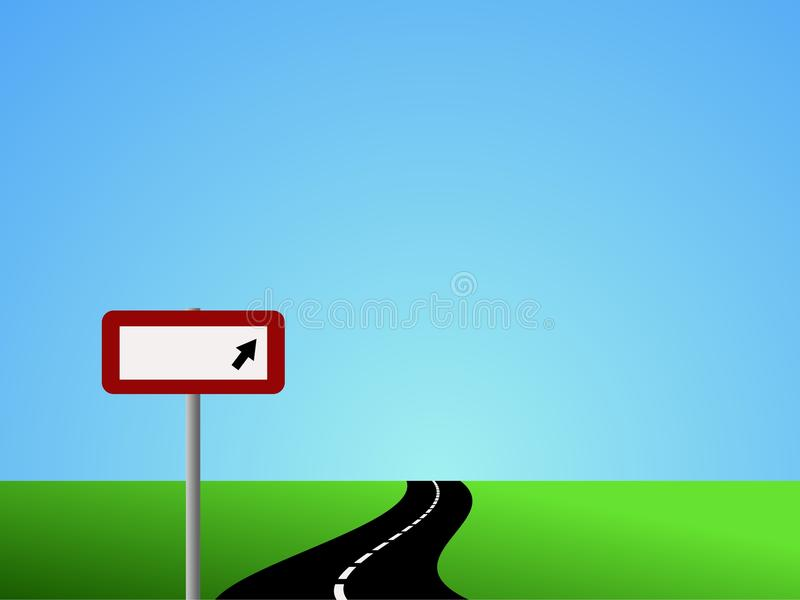Download Winding Road With Blank Sign Stock Vector - Image: 13997165
