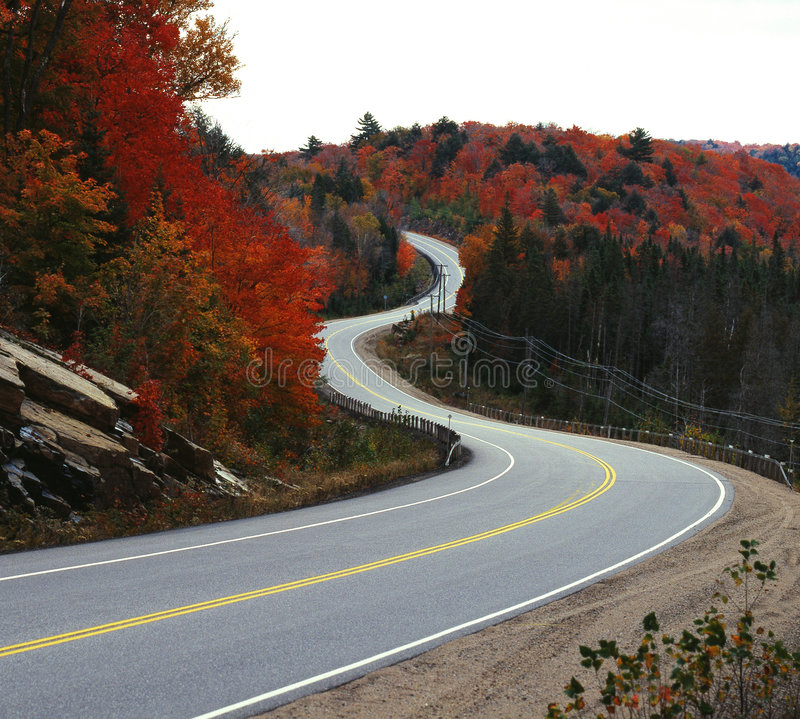 Download Winding road in fall stock photo. Image of scene, canada - 7252186