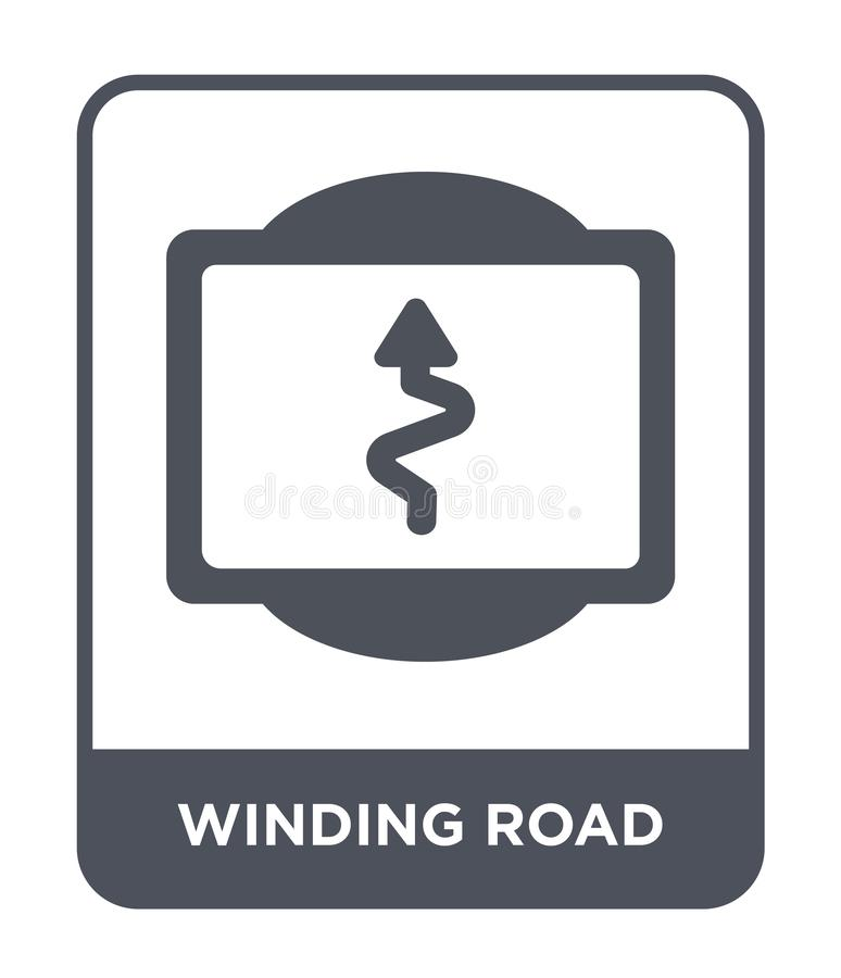 Winding road icon in trendy design style. winding road icon isolated on white background. winding road vector icon simple and. Modern flat symbol for web site royalty free illustration