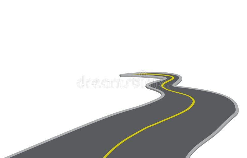Winding road. Illustration of winding road on white background vector illustration
