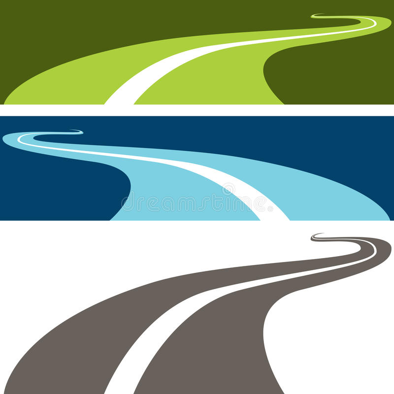 Winding Road. An image of a winding road royalty free illustration
