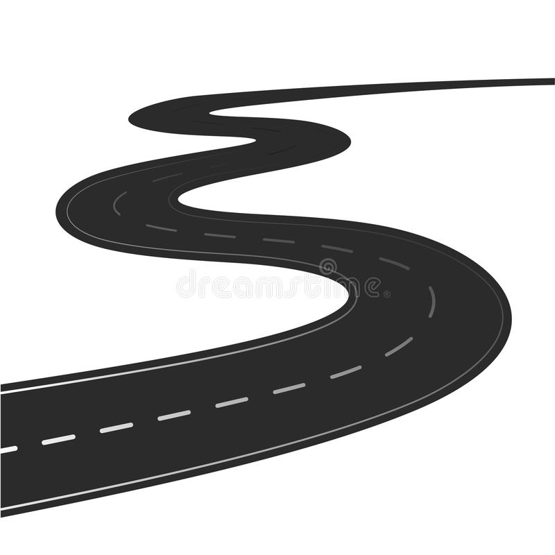 Free Winding Road Isolated Stock Photo - 103068630