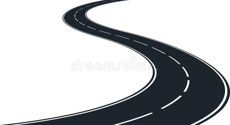 Winding road. Isolated winding road - clip art illustration vector illustration