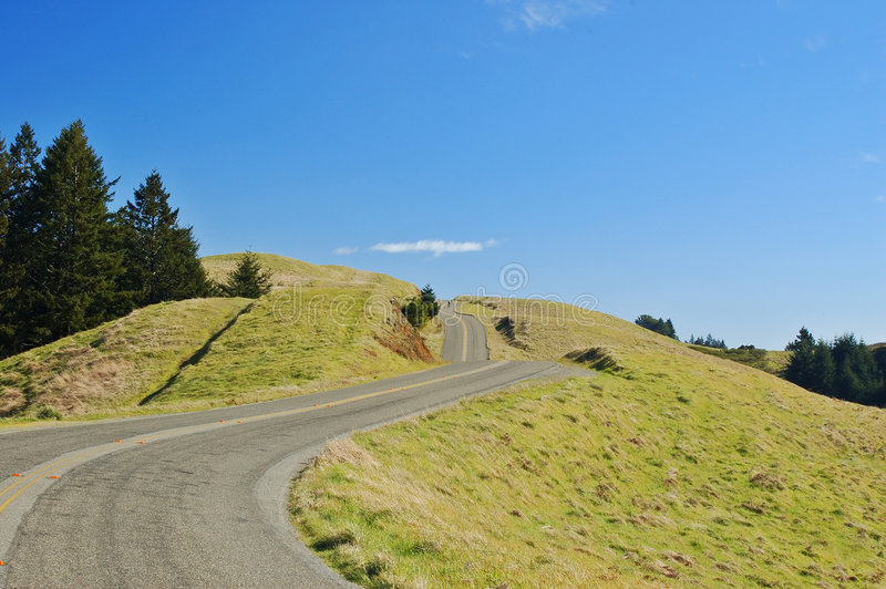 Winding road on mount tamapalais stock images