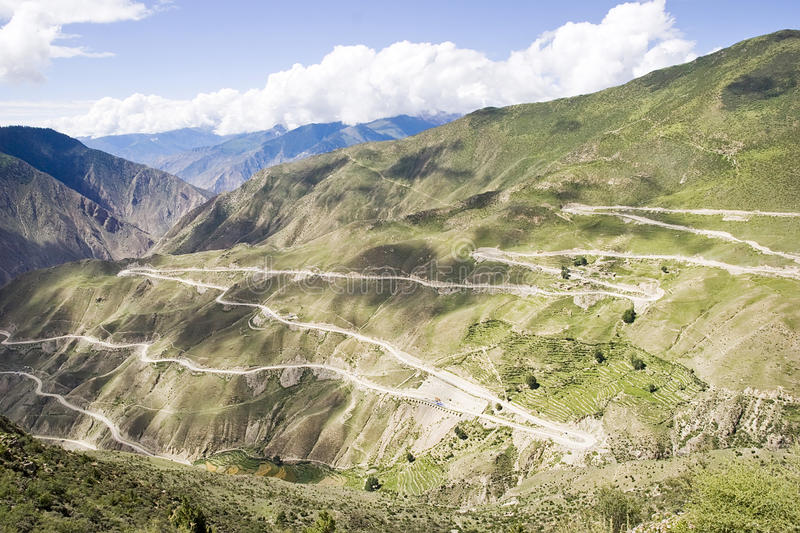 Download Winding road in Tibet stock photo. Image of mountain - 23557944