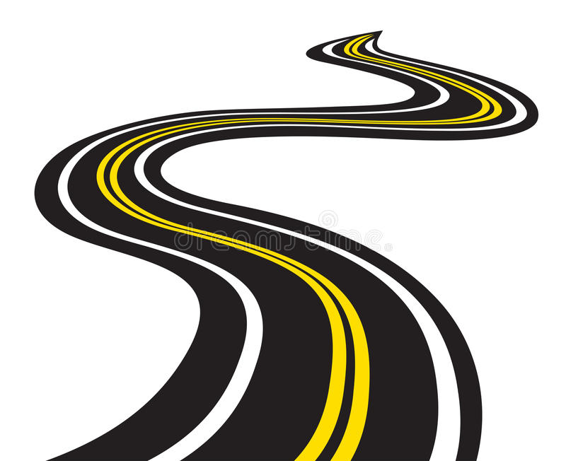 Winding road. Vector illustration of Winding road vector illustration