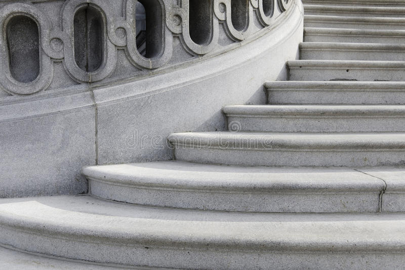 Winding staircase stock image