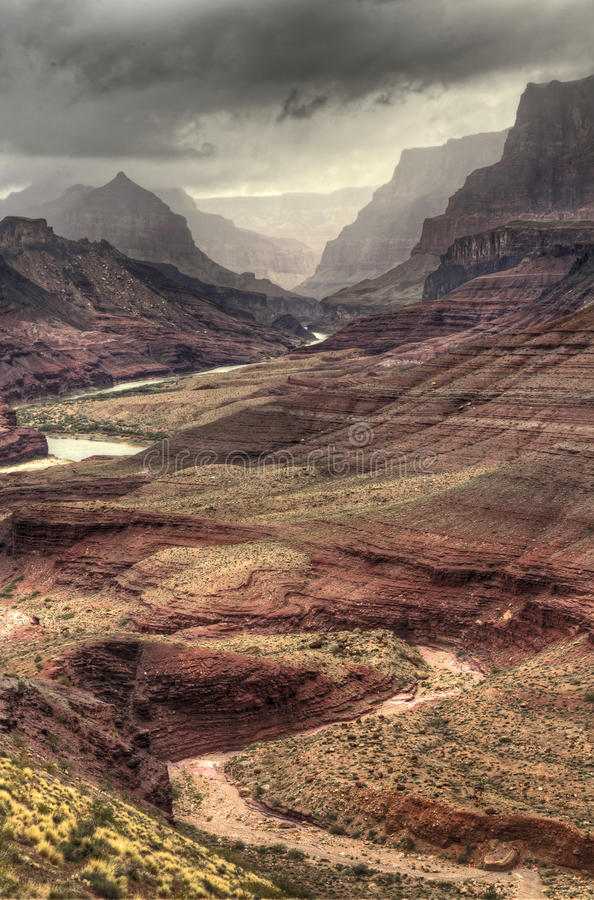 Winding Textures of the Grand Canyon stock image