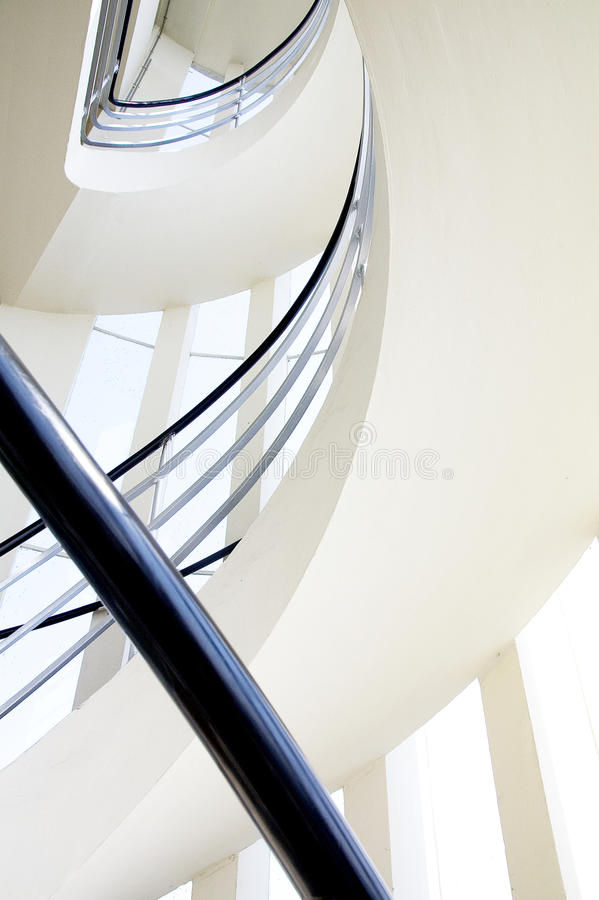 Windingstaircase of a monumental building watchtower stock photo