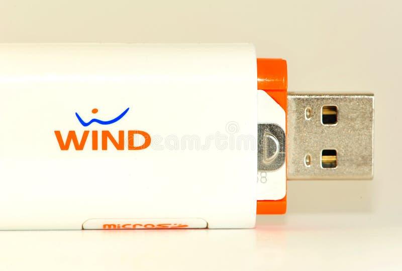 Windinternet stockfotografie