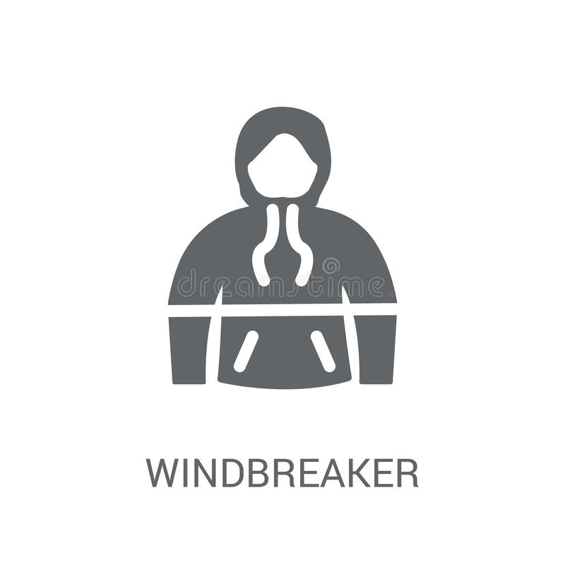 windjekkerpictogram  royalty-vrije illustratie