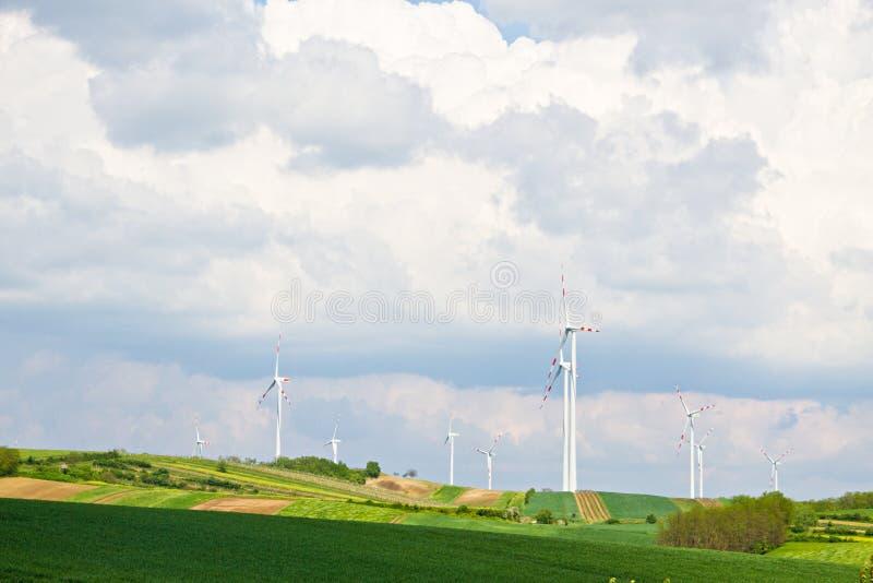 Windkraftanlage stockbilder