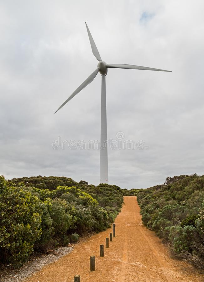 Windkraftanlage Albanien West-Australien lizenzfreies stockbild