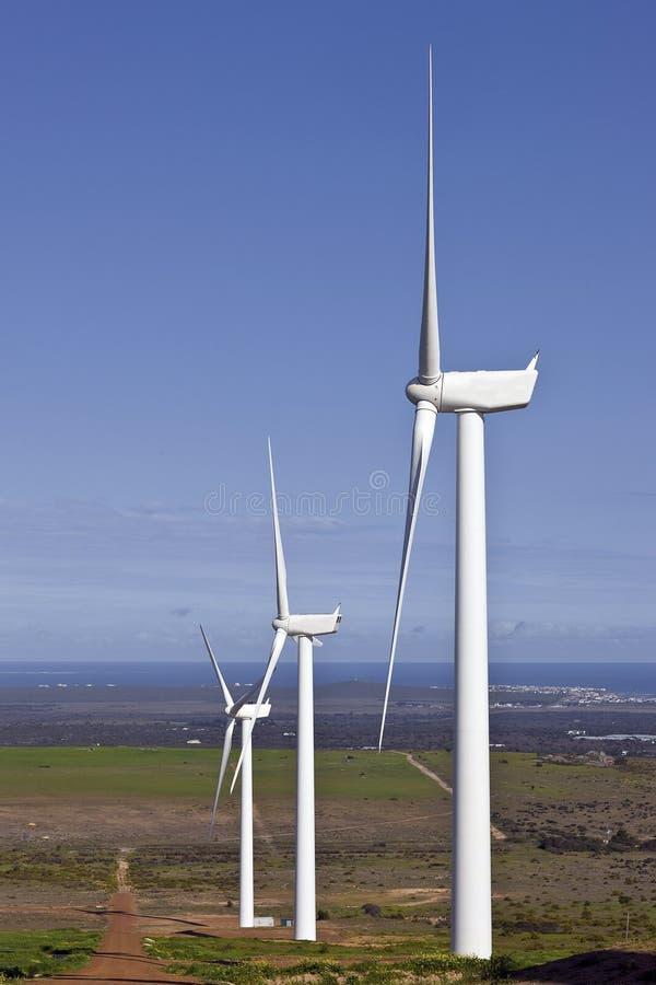 Windkraftanlage, die Energie macht lizenzfreies stockfoto