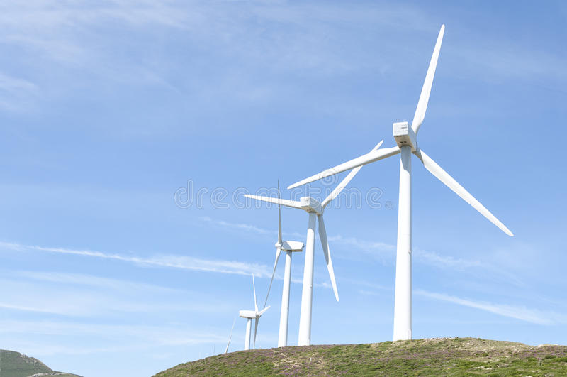 Windkraftanlagen stockfoto