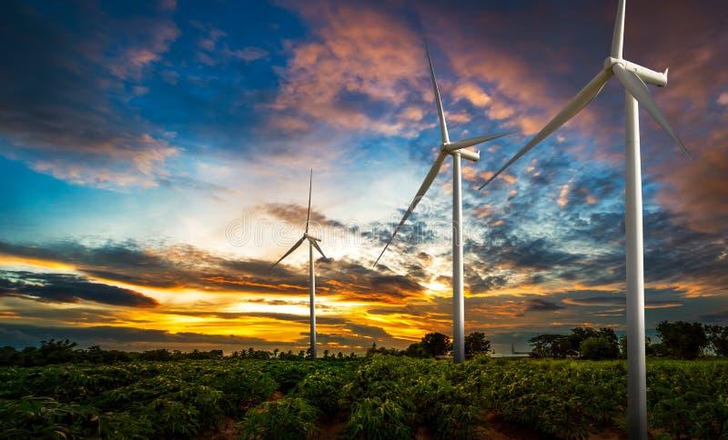 Windkraftanlagestandort lizenzfreies stockfoto