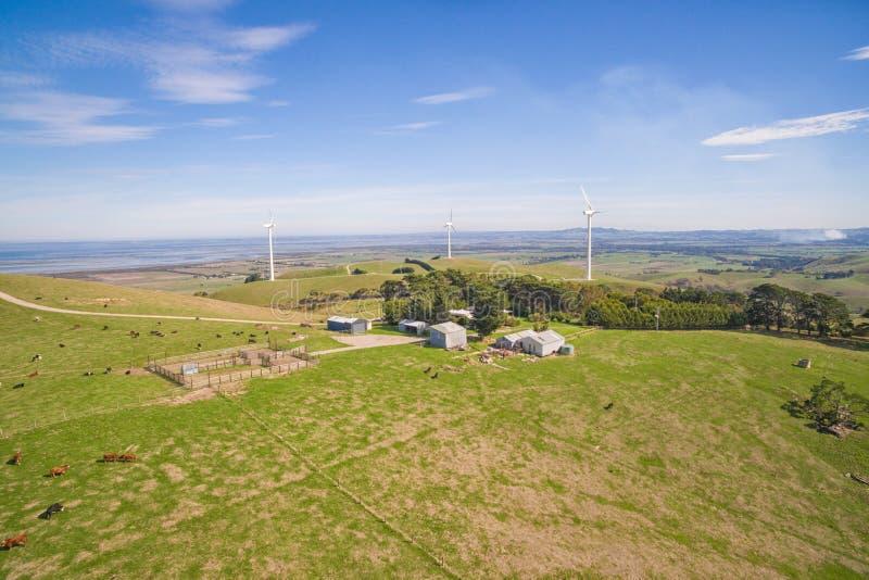 Windlandbouwbedrijf in Australië stock fotografie