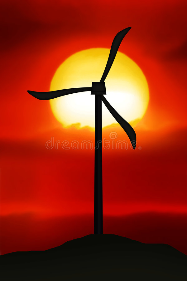 Windleistung stock abbildung