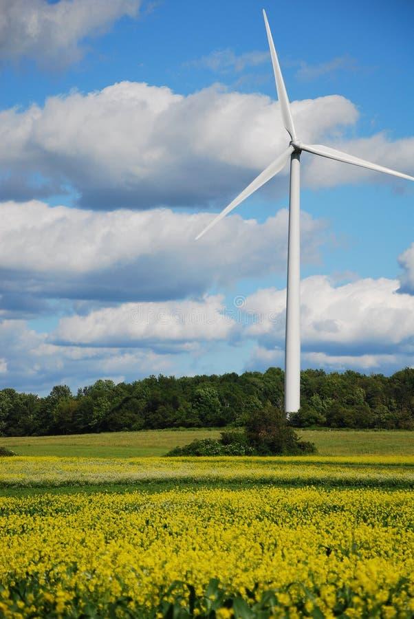 Windleistungturbine lizenzfreie stockfotografie
