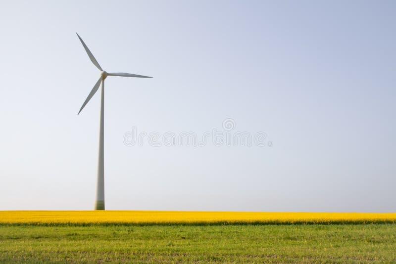 Windmühle über Horizont lizenzfreies stockbild